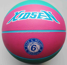 Xidsen,Qianxi Rubber 8pannels Basketball size 6 for girls,pink,colourful