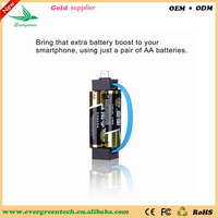 Travelling disposable cell phone charger mini emergency charger match 18650 battery