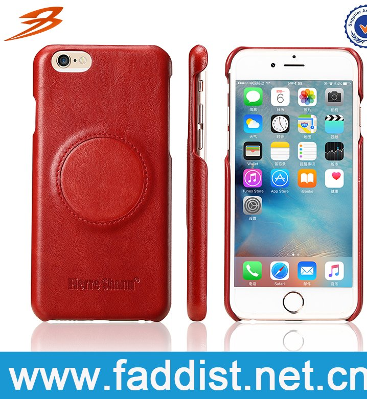 Latest design new top grain high quality genuine leather cell phone case for iphone 7/7 plus