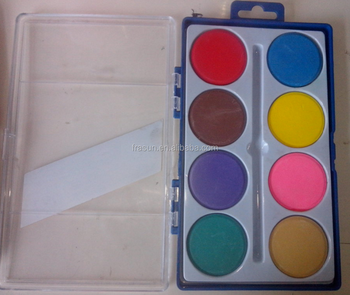 8 color damp dry water color paint set with brush water colour buy
