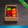 Promotional recycled folding portable retail fruit packing box with clear lid