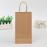 Eco-friendly Brown Kraft Paper Baking Food Packaging Take Out Bag