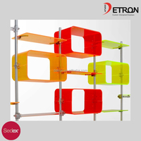 Hot selling wall mount acrylic brand shoes display rack retail shop ,acrylic shoes display stand