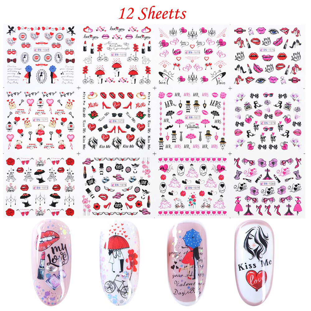 Promotion High Quality Temporary Korea Water Transfer Nail Tattoo Sticker