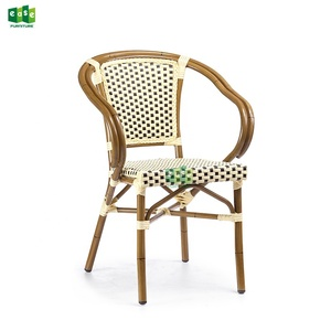 European outdoor furniture colorful wicker rattan dining chairs -E5013B