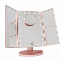 Fashion three sides touch sensor led lighted makeup mirror with lights