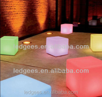 Superieur Fancy LED Kids Beach Chair LED Furniture And Furnishing Small Seat LED Cube  40cm