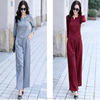Hot sell new design fashion ladies clothing high waist tie jumpsuit elegant career wear for women