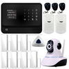 WiFi alarm Internet GSM GPRS SMS OLED Home House Security Alarm System APP Control + IP Camera wifi App Integrated In Alarm App