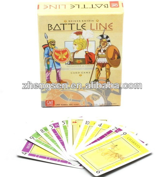 popular new design battle line playing card