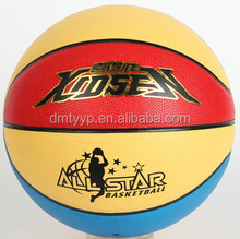 Xidsen PVC/PU 8 pannels Colorful Basketball size 7,PVC/PU glue laminated women basketball