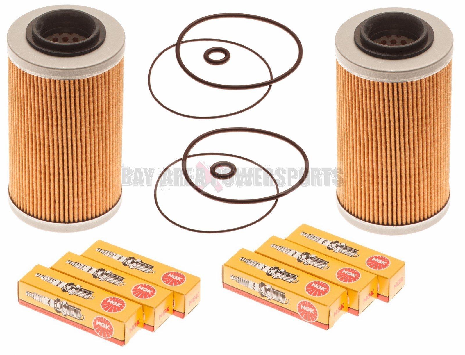 Sea Doo 4-Tec Maintenance Kit Oil Filter W/ O-Ring & NGK Spark Plugs 2 Pack