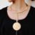 Fashion Exclamation mark Gold Choker Pendant Necklace Punk Women Maxi Big Circle Metal Statement Necklace Choker Jewelry