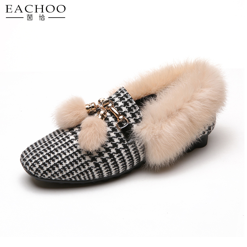 2018 best sell knitted moccasins mules slippers