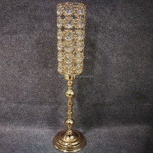 New Wedding Main Table Candlestick Metal Gold Plated Crystals Candelabra