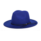 China supplier factory directly sell Indiana Jones winter hats blue Wool Felt Trilby Men Fedora Hat