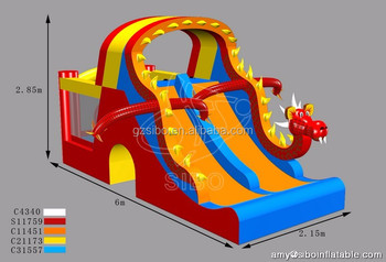 GMIF SiBo Funny Inflatable Dry Slide Hot Selling In Amusement Park On Sale