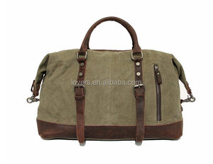 Vintage military Canvas mens travel bags carry bag