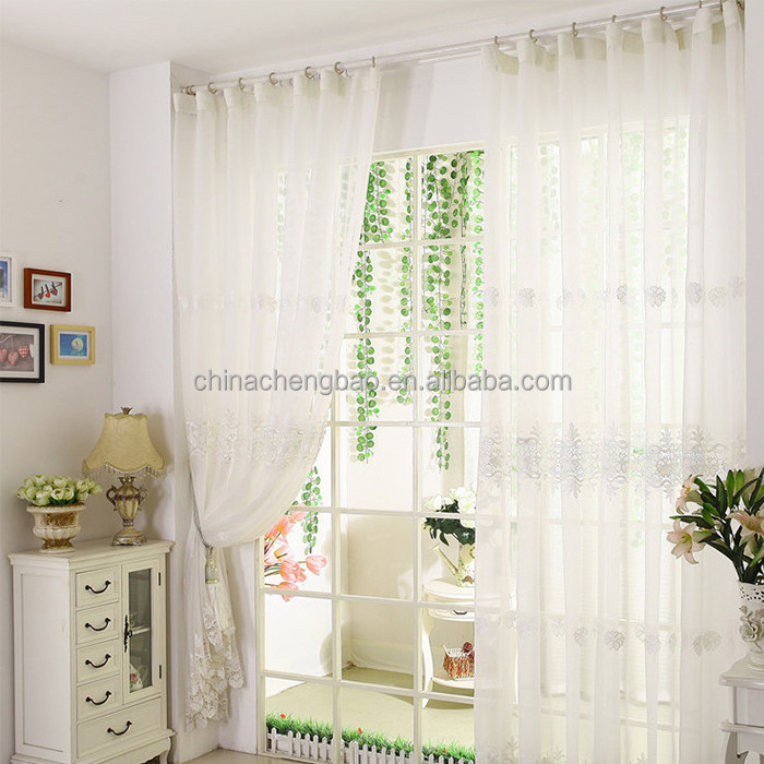 European style wedding decoration drapes white unique style sheer curtains