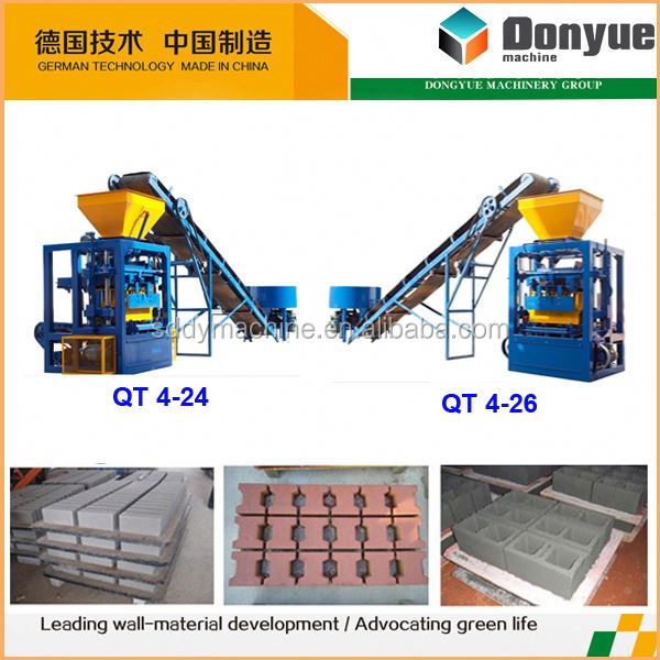 mexican interlocking brick making machine plant qt4-24 dongyue machinery group