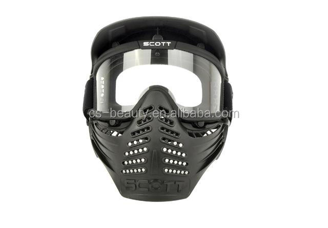 High Quality CS War Game Protective Paintball Face Mask with Goggles
