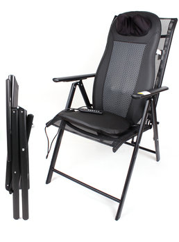 Massage Cushion Chair Folding Aluminum Seven Position Adjustable Reclining  Beach Chair