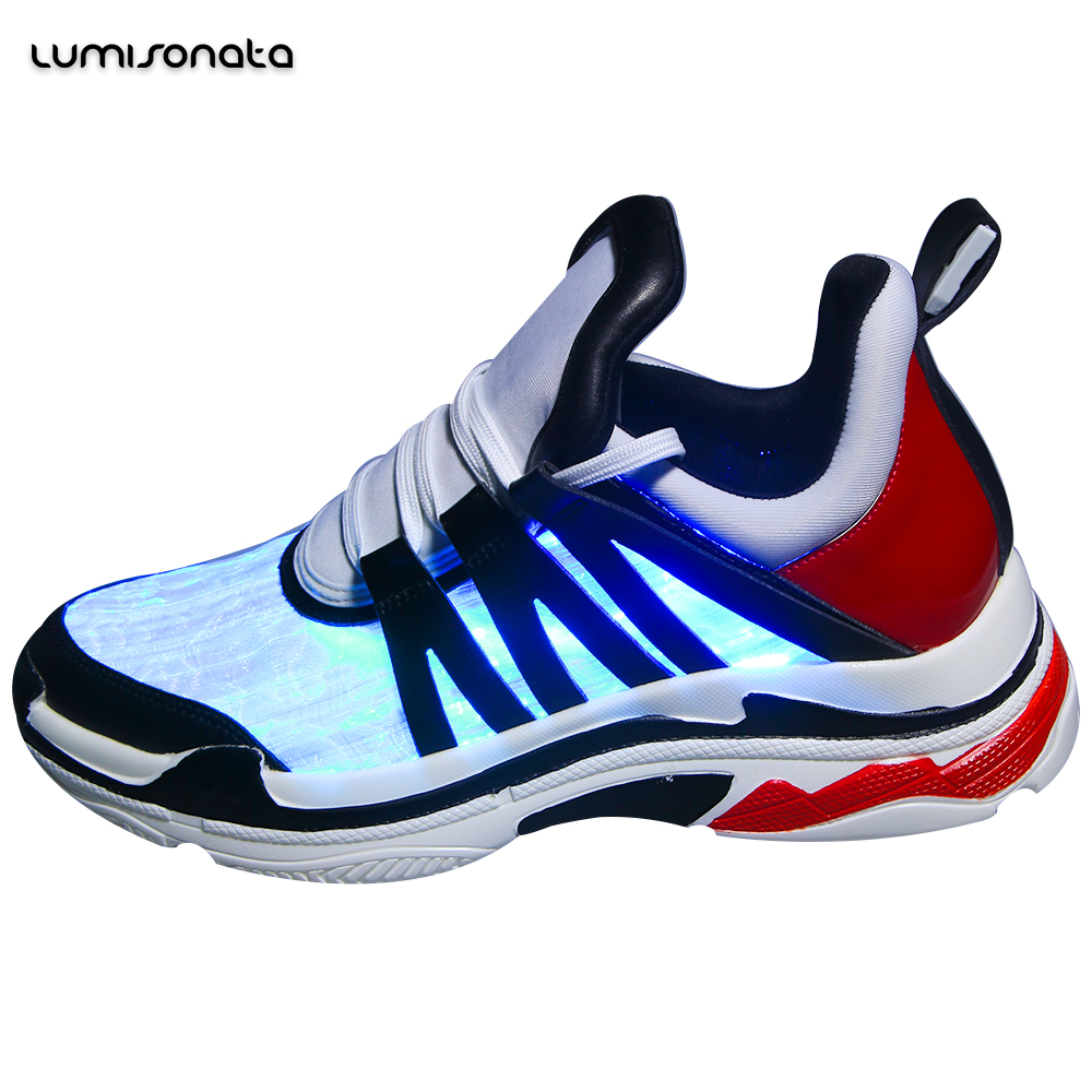 optic remote light with running led led led light controlled shoes New flashing fiber nZ8EP