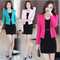 W70727G wholesale business women suit models long-sleeved two-piece dress and coat office career dresses suits designs 2015