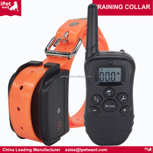 2016 Best Quality 2017 New Fully Waterproof and Rechargeable 300 Yard Remote Electric Dog Training Shock Collar