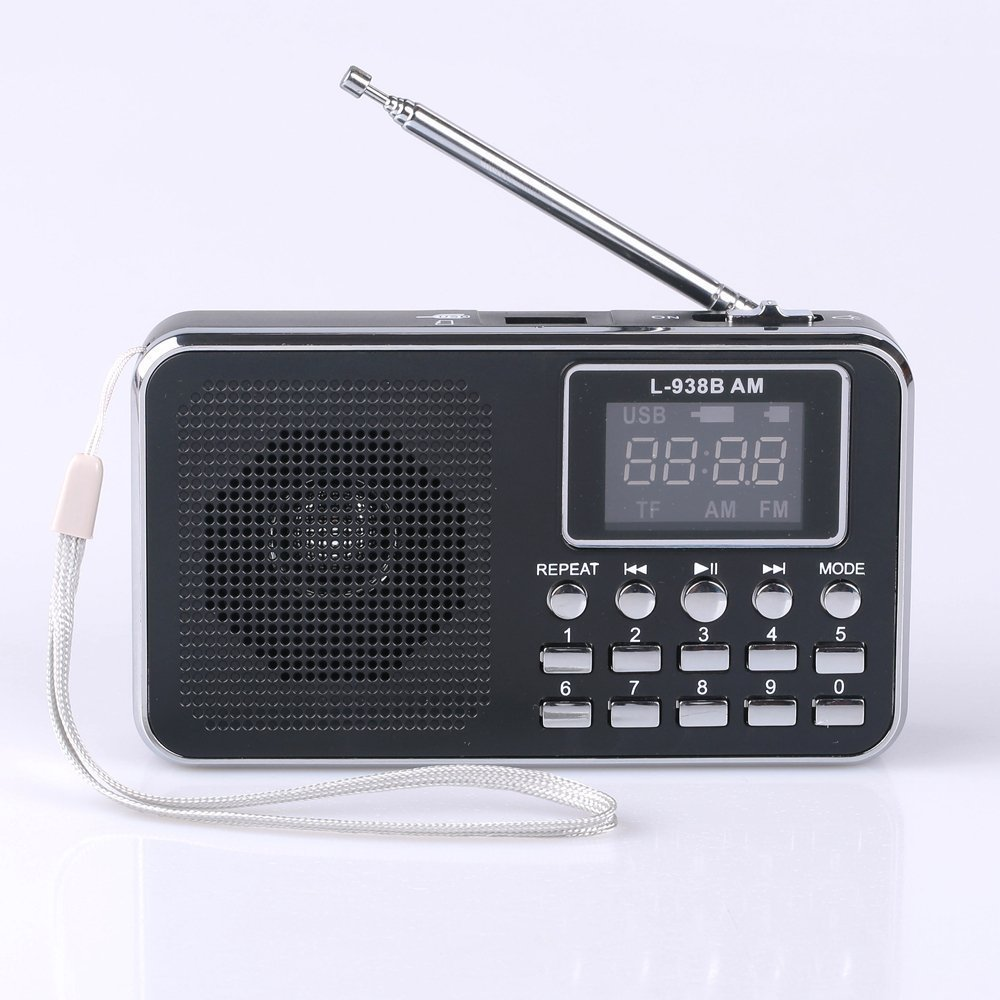 Ohala Mini Portable Am/Fm Radio Digital MP3 Music Player Support Micro SD/TF Card USB Disk