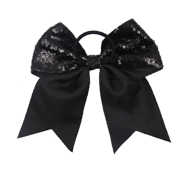 Wholesale Ponytail Custom Logo black color Cheer Bow Butterfly Best Sell Hair Bow Grosgrain