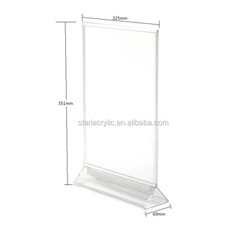 X Acrylic Sign Holder Clear Table Card Display Plastic - Acrylic menu table tent holders