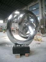 stainless steel abstract arts sculpture with 304 pure handmade interior decorating
