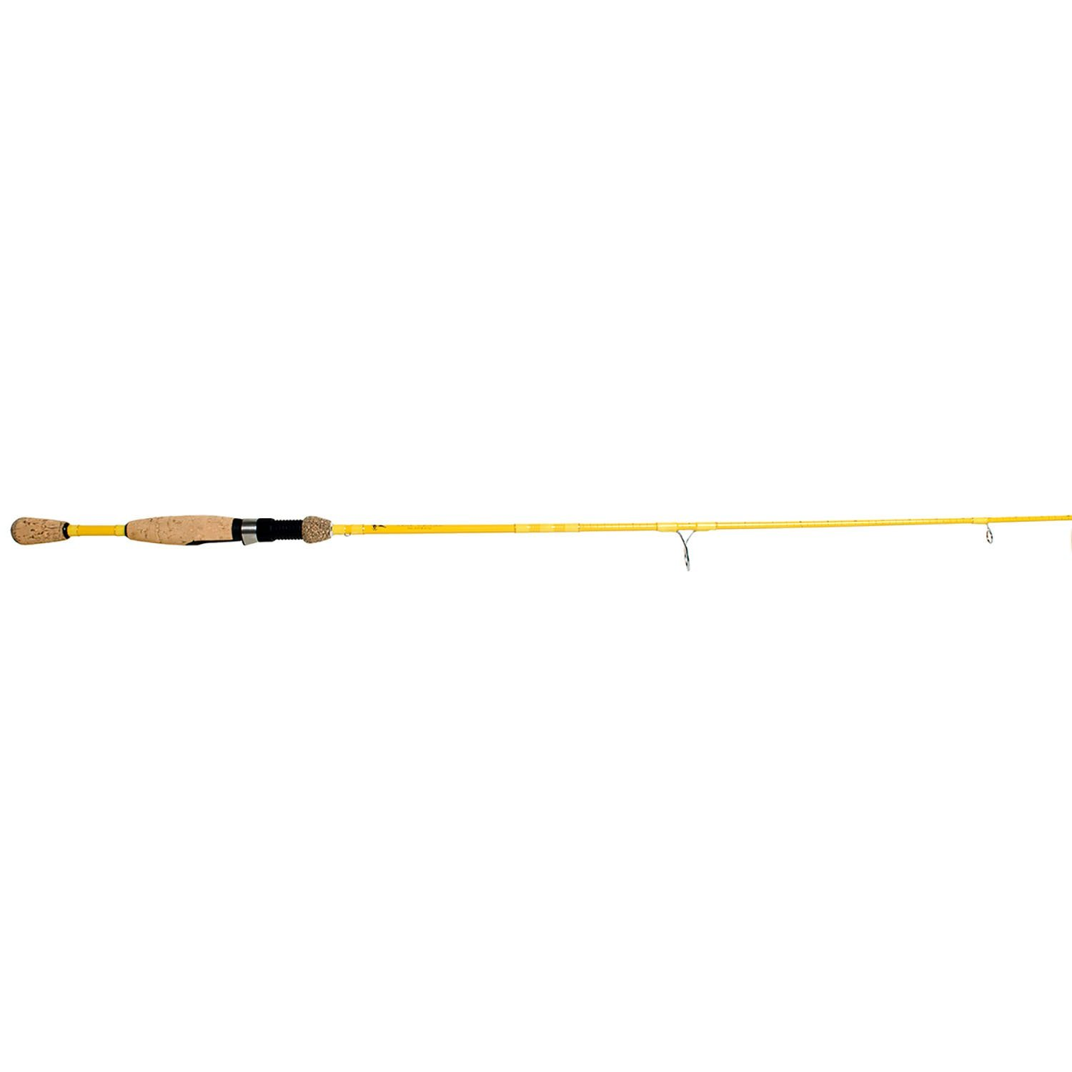 Eagle Claw Featherlight Spinning Rod, 2 Piece (Ultra Light Yellow, 5-Feet 6-Inch)