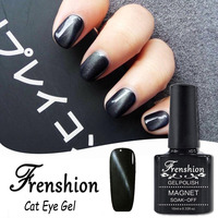 Frenshion 2017 Nail Gel Manufacturer Wholesale Jewel Black Cat Eye Gel Polish Uv Gel Nail Polish Need Magnet Korean Nail Polish