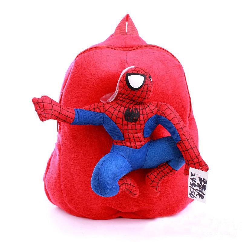 Мультфильм человек паук детский 3D рюкзак с человек паук игрушка кукла в качестве украшения студенты школьный детский подарок