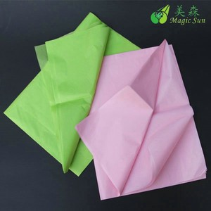 nice green colored tissue paper for wrapping flower