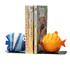 cool Cartoon Kiss Fish Resin Book End stopper For Desk Shelf Decoration