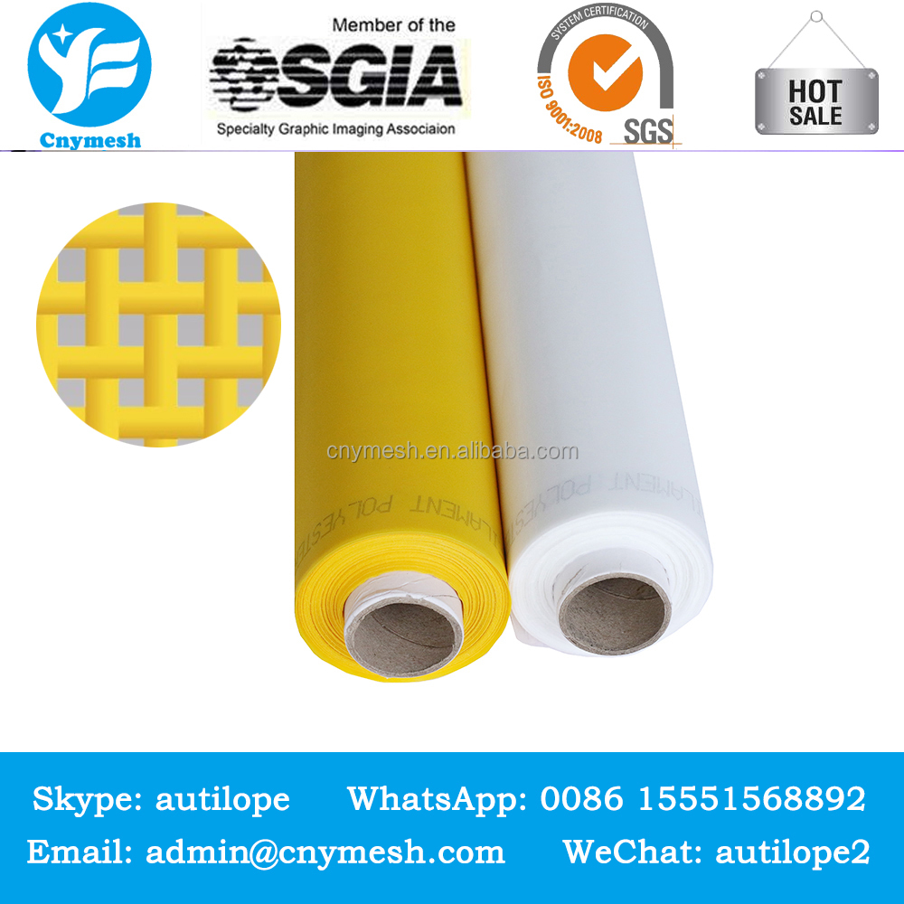 DPP61T / 155MESH - 64UM- White 80t-48 pw polyester screen printing bolting cloth and polyester silk screen