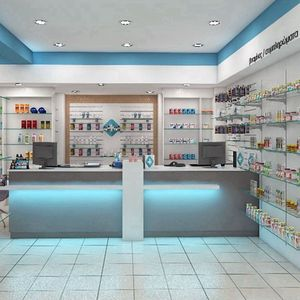 Pharmacy Shop Furniture With Shelves Display