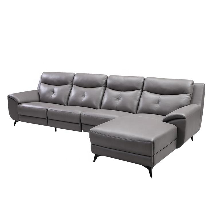 Furniture Electric Leather L Shape Sofa