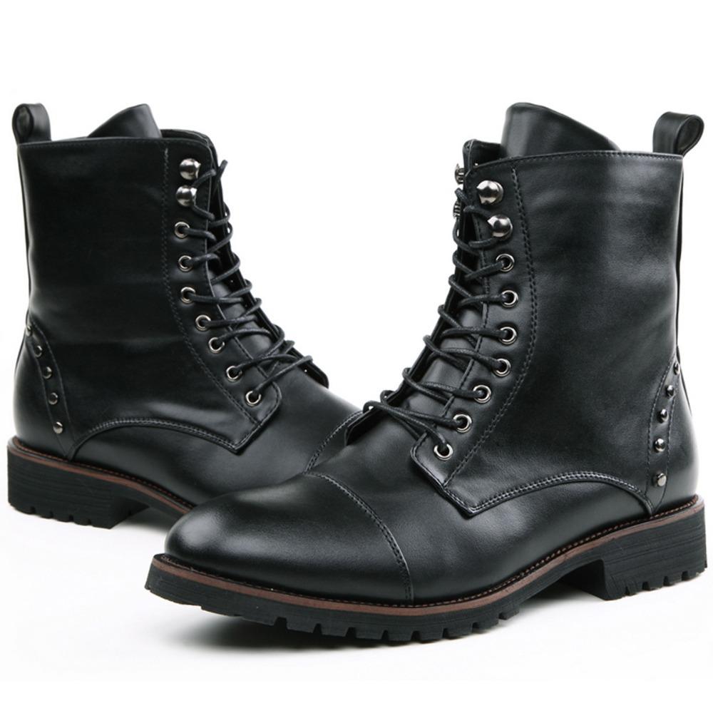 Mens Black Zip Shoes