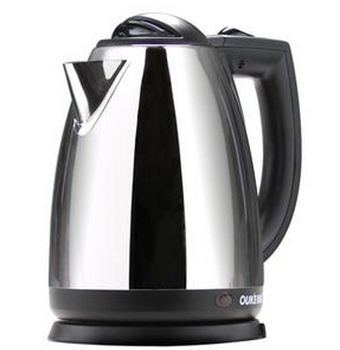 standard 1.7L national stainless steel cordless electric kettle