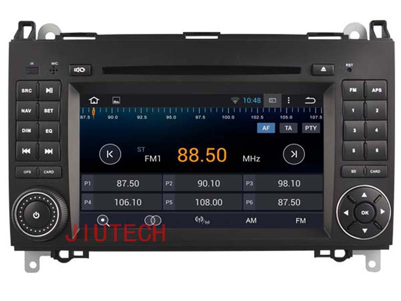 "7"" Double Din Quad Core Android 4.4 Car Stereo DVD GPS navigation headunit for MERCEDES A/B/class W169 W245 Viano Vito Sprinter"