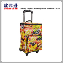 Sale four wheel vegetable shopping trolley bag with telescopic handle