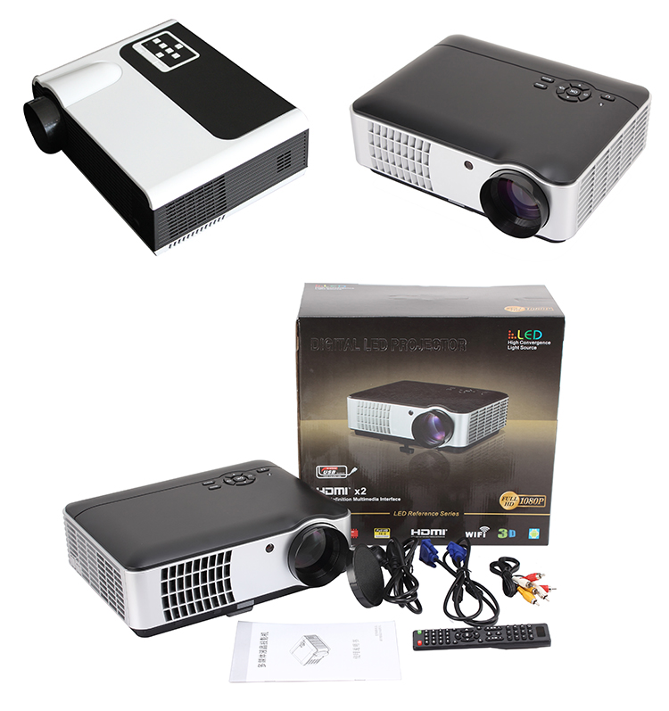 RD-806 full HD Android wifi digital projector 1080p 3D LED projector mini projector home cinema Rigal