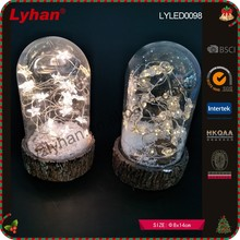 inventive LED transparent glass dome acrylic star light home decoration