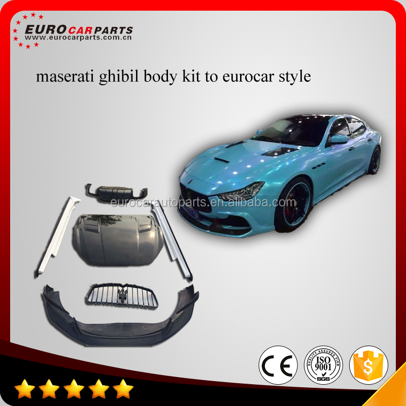 New Arrival Ghibli Eurocar Design Body Kit For Maserati Ghibili 2013