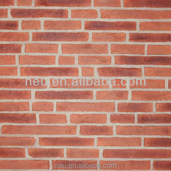 lightweight and easy instal interior decoration pu faux brick wall panels