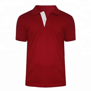 Mens latest design color combination customize polo short sleeve t shirt